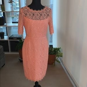 Gorgeous peach lace fitted dress